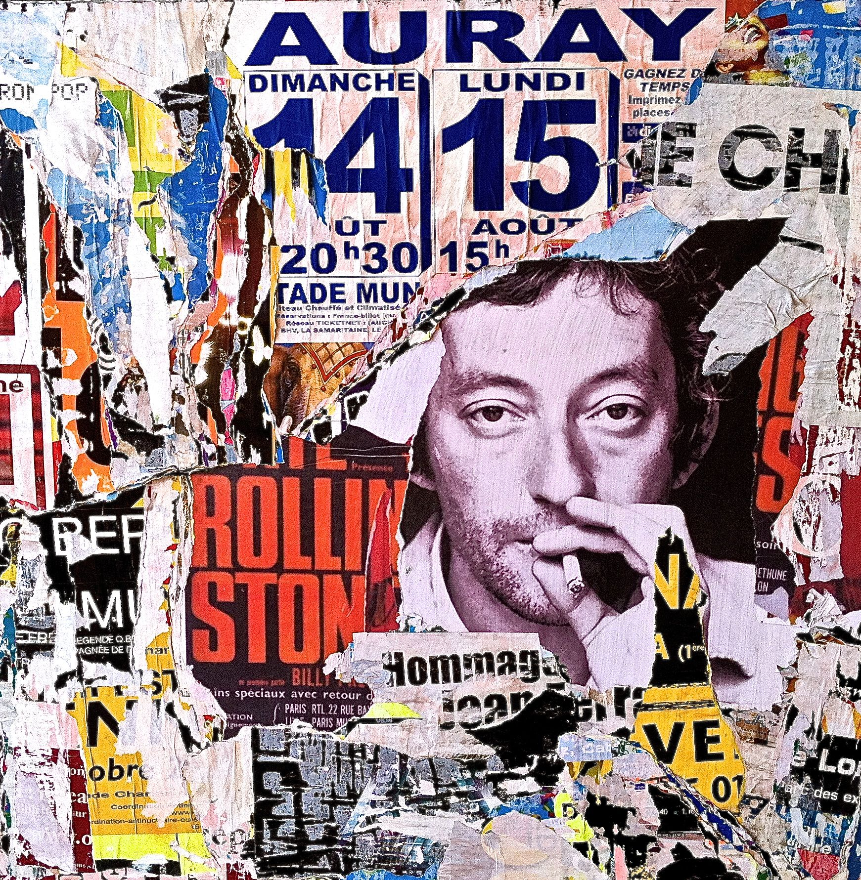 serge gainsbourg gainsbarre street art pop art collage affiche jeff callec serge. Black Bedroom Furniture Sets. Home Design Ideas