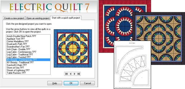 Electric Quilt computer software design packages ...