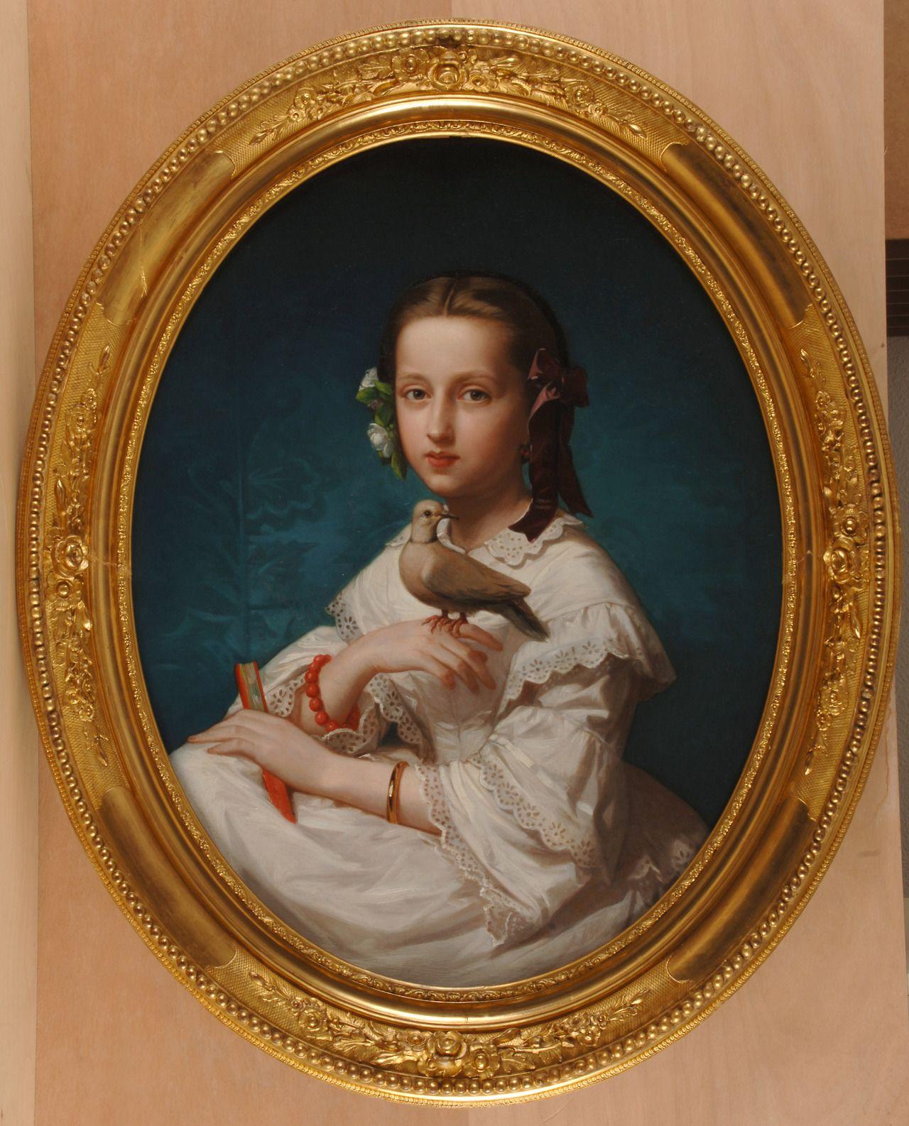 1880 Luis de Madrazo Kuntz - María Teresa with a dove | MADRAZO ...