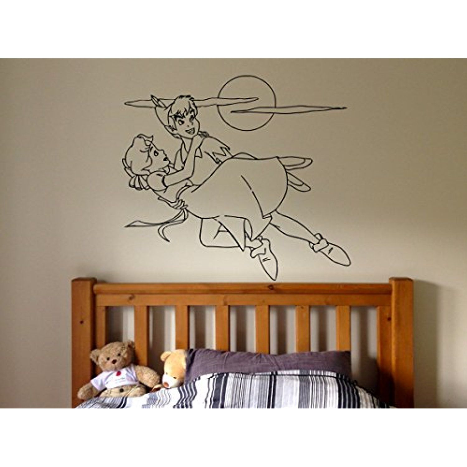 Wall Sticker Decal Peter Pan London Cartoon Tinkerbell Quote Pirate