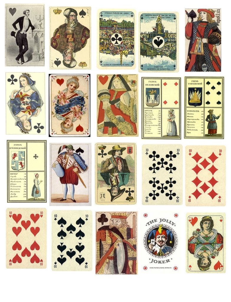 Playing Cards 2 With Images Free Collage Collage Sheet