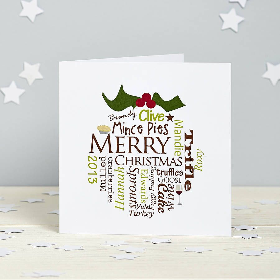 Personalised Christmas Pudding Card Pack Company Christmas Cards Corporate Christmas Cards Personalised Christmas Cards