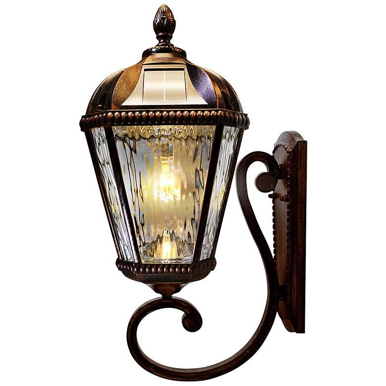 Royal Bulb 21 H Brushed Bronze Solar Led Outdoor Wall Light 58w23 Lamps Plus Outdoor Wall Lighting Wall Lights Outdoor Wall Mounted Lighting