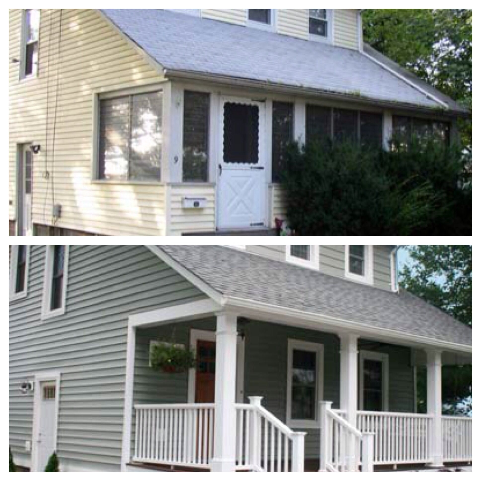 Curb Appeal Before And After Open Up Front Porch Paint Front