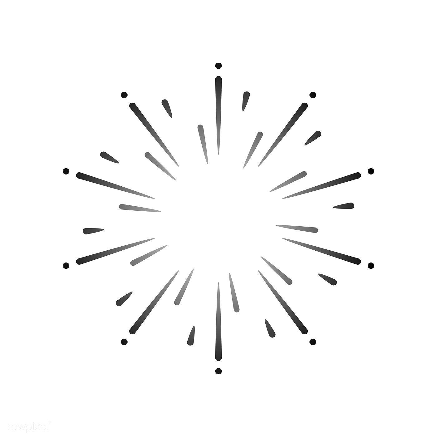 Firework Explosion Design Element Vector