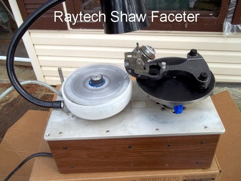 Raytech Shaw Faceter faceting gem maker lapidary machine w