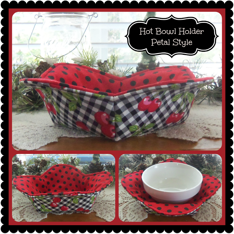 One Hour Kitchen Projects: 1 Hour Hot Bowl Cozy Holder~ Petal Style
