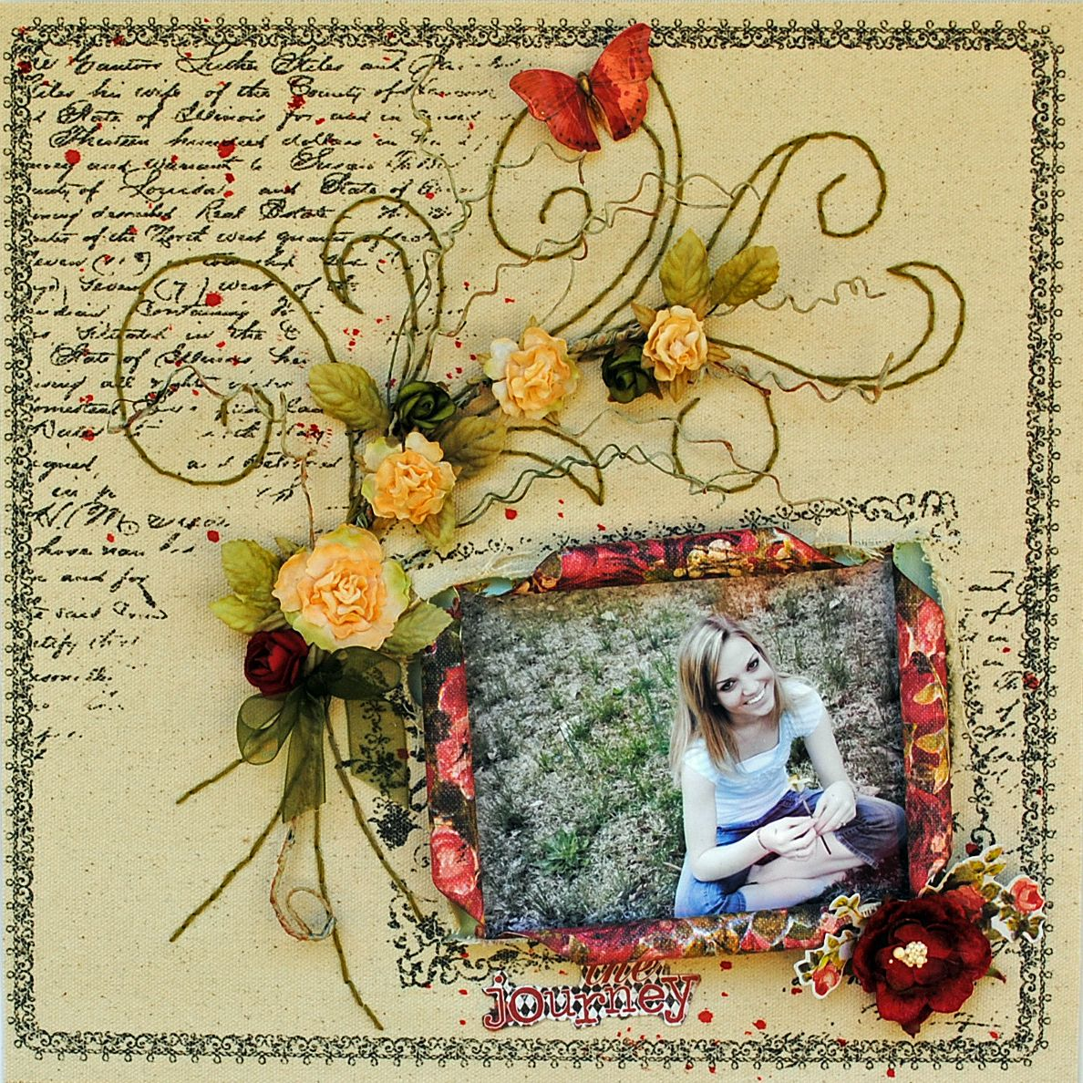 Journey scrapbook ideas - Create This Flower Scrapbook Layout With This Essentials Cartridge