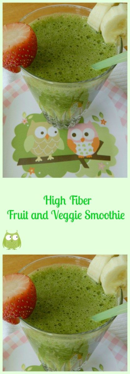 High Fiber Fruit and Veggie Smoothie #fiberfruits