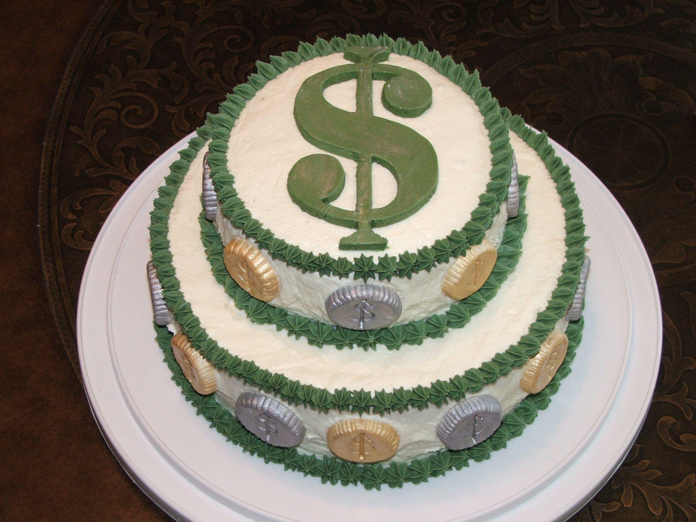 Money Cake   Birthday Photos Coin Cakes & Cookies ...