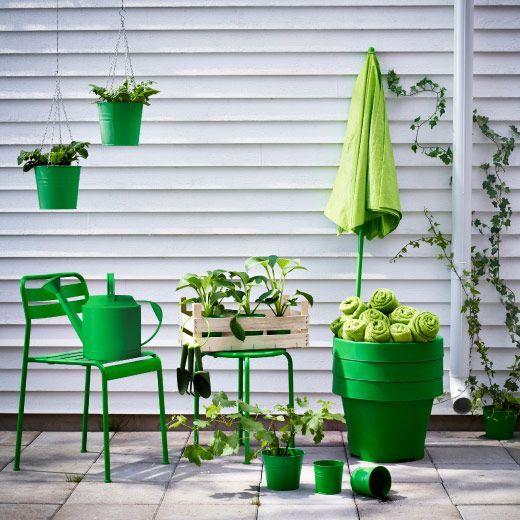 Há cores que tornam interiores em exteriores: o verde é uma delas :)