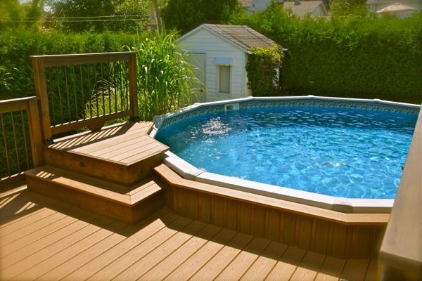 Non slip recycled decking material composite decking for Backwash piscine hors terre