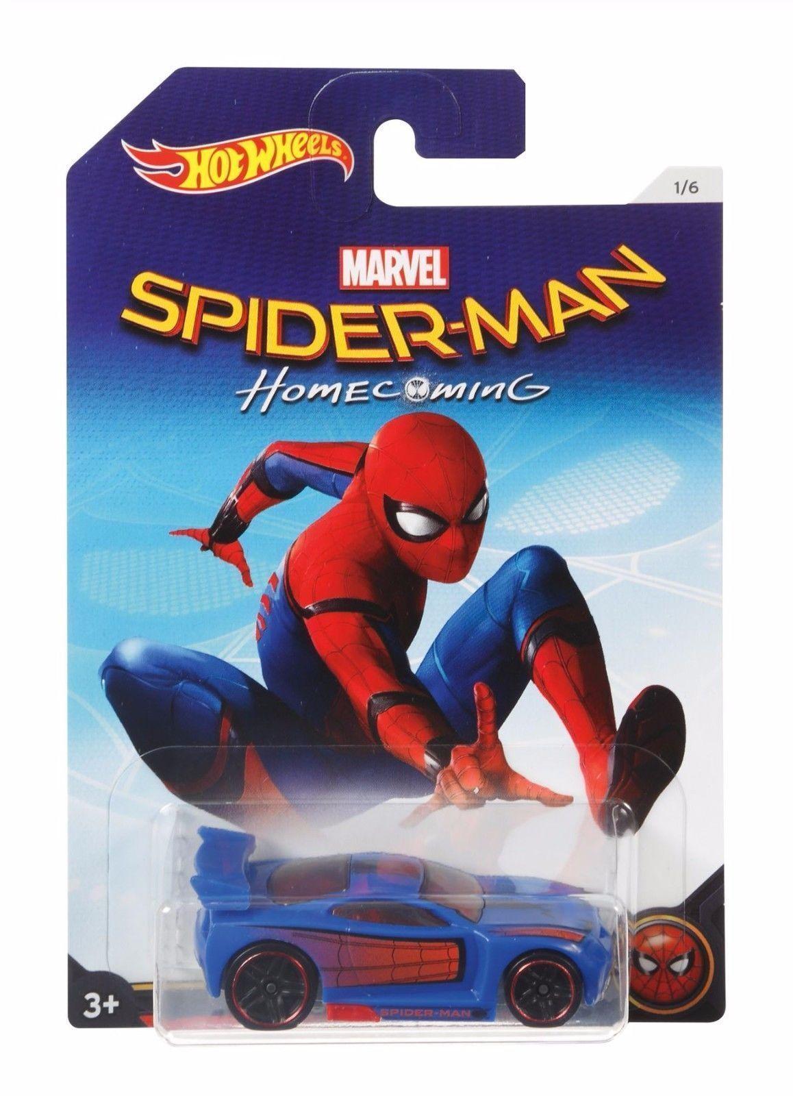 01f8fe17 £6.99 GBP - Hot Wheels Marvel Spider-Man Diecast Car - Homecoming Power Rage