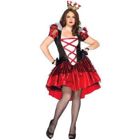 Plus Size Royal Red Queen Adult Halloween Costume Womenu0027s Size 3X/4X  sc 1 st  Pinterest & Plus Size Royal Red Queen Adult Halloween Costume Womenu0027s Size: 3X ...