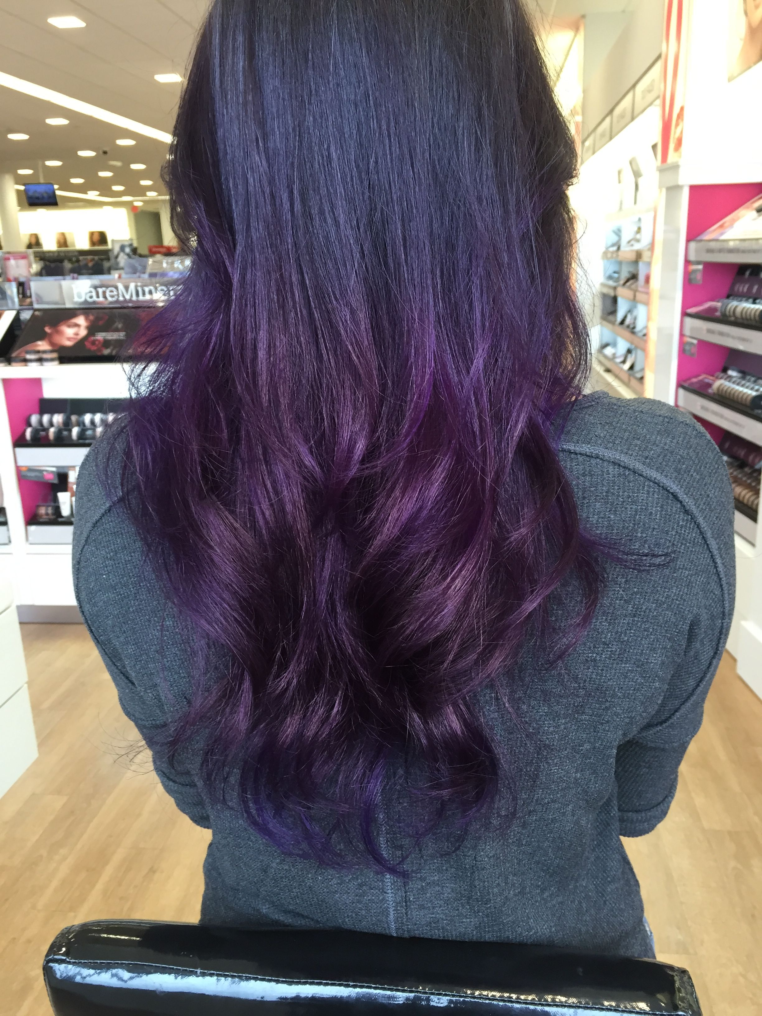 Oh my purple ombre hair purple on dark brown at the ulta salon