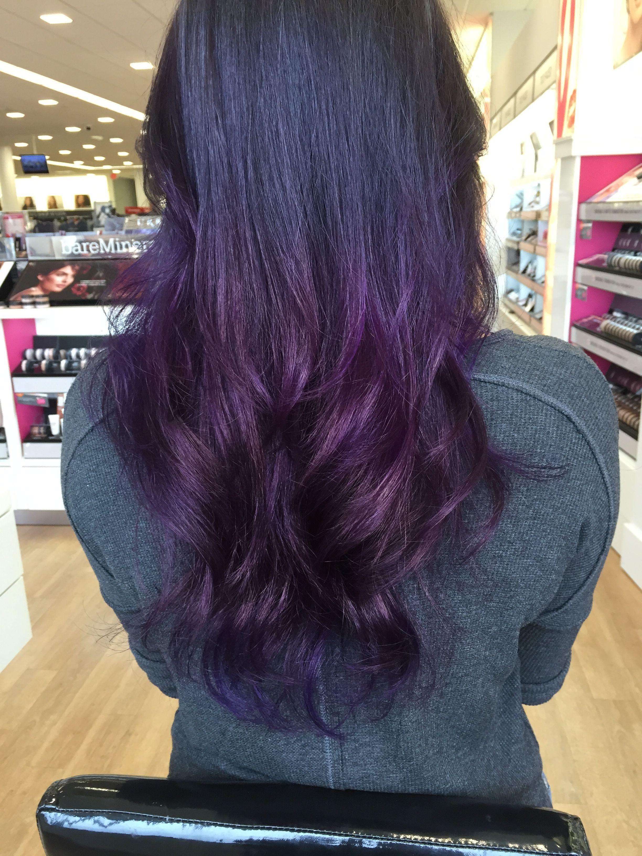 Oh my purple ombre hair purple on dark brown at the ulta salon