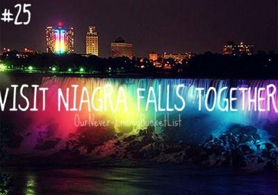 Visit Niagra falls together