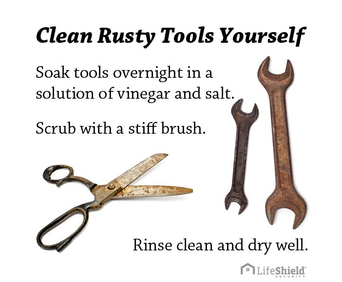 remove rust from tools yourself clean old rusty tools with this simple life hack all you need. Black Bedroom Furniture Sets. Home Design Ideas
