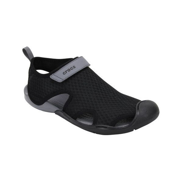 Women S Crocs Swiftwater Mesh Sandal 50 Liked On Polyvore Featuring Shoes Sandals Black Casual Casual Footwear Kohl Women S Crocs Black Sandals Crocs