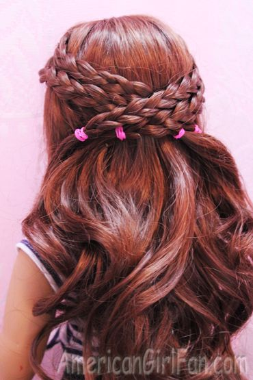 Hair Care and Styles - Criss-Cross Braided Doll Hairstyle #dollcare