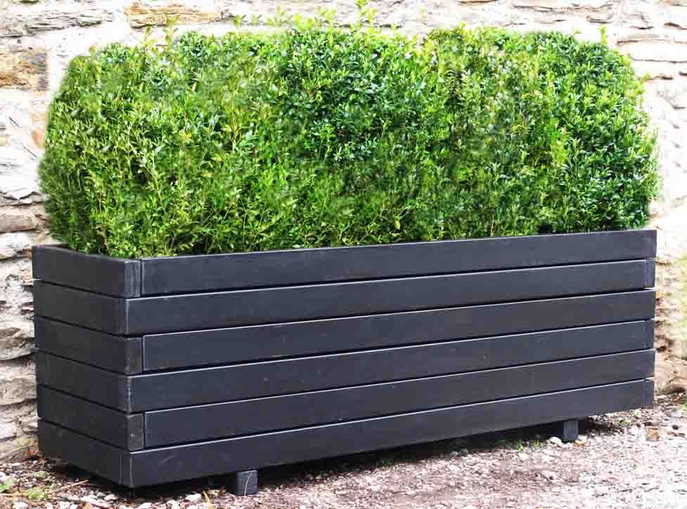 Large plastic planter boxes front yard landscaping ideas for Large garden planter ideas