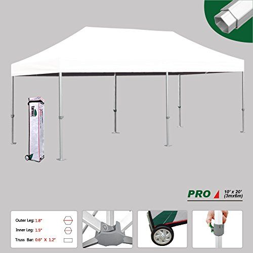 Eurmax Professional 10x20 Pop Up Canopy Wedding Partytent Instant Outdoor Gazebo Aluminum Frame Commercial Grade Bonus Ro Diy Canopy Canopy Tent Canopy Bedroom