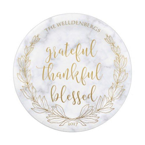 Marble and Gold Wreath Grateful Thankful Blessed Paper Plate  sc 1 st  Pinterest & Marble and Gold Wreath Grateful Thankful Blessed Paper Plate ...