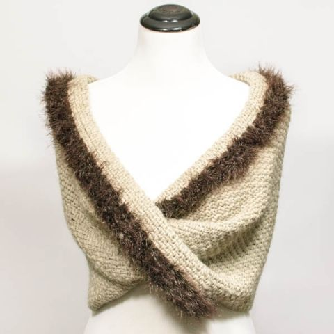 Faux Fur Trimmed Infinity Scarf To Wrap Fur Trim Infinity And Fur