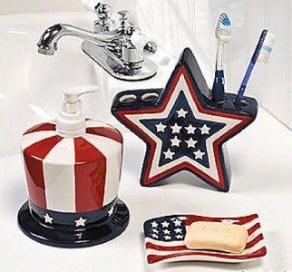 Patriotic Bath Decor About Patriotic Bathroom Accessories