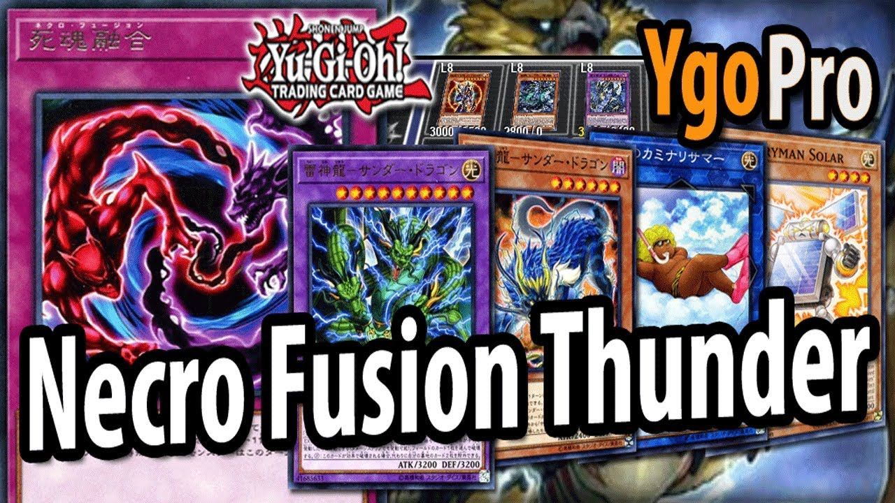 NECRO FUSION Thunder Dragons (YgoPro) - The BEST OCG anti
