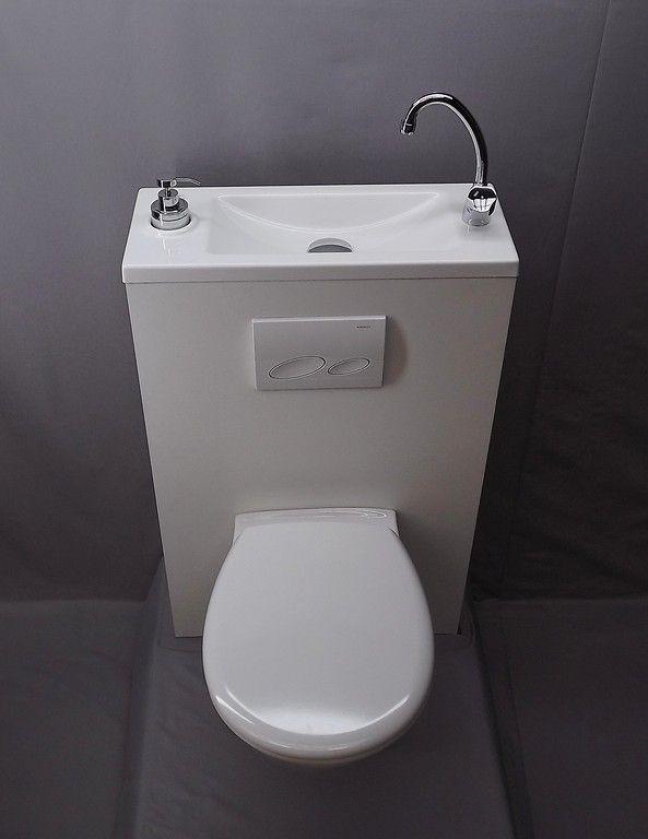génial les wc qui économisent place et eau | lave main, pas de