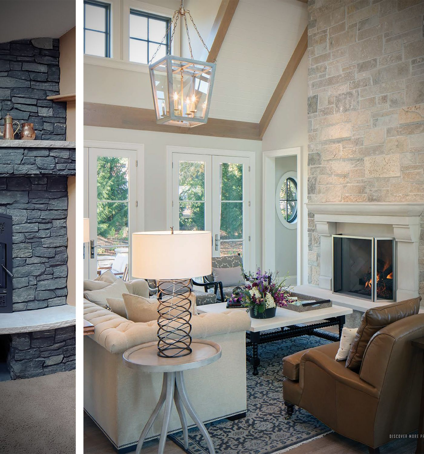 Natural Stone Fireplace Living Room Interior Outdoor Patio Stone Veneers In 2020 Natural Stone Fireplaces Stacked Stone Walls Stone Walls Interior #stone #fireplace #in #living #room