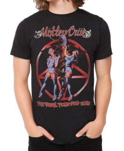 Motley Crue Final Tour 1991 2015 Metal Rock T Shirt M L Xl 3xl Nwt Motley Crue Rock T Shirts Shirts