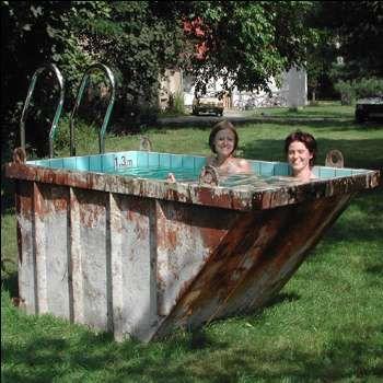 Trash Bin Pools Dang That S Manly Dumpster Pool