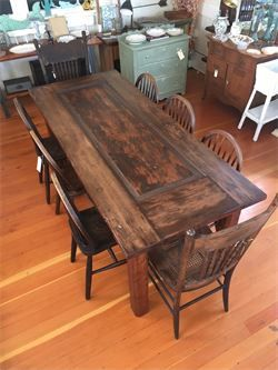 Antique Redwood Door Made Into Dining Table For 8 Old Growth Legs 31 W X