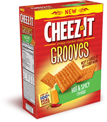 Cheez It Cheez It Grooves Hot Spicy Cheddar Cheez It Hot Spicy Grocery Foods