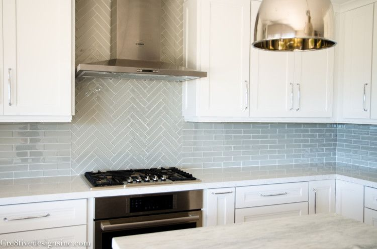 Kitchen Remodel Using Lowes Cabinets Herringbone Tiles Kitchen
