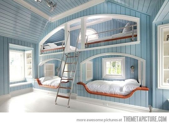 Awesome Bunk Bed Cool Bunk Beds Built In Bunks House