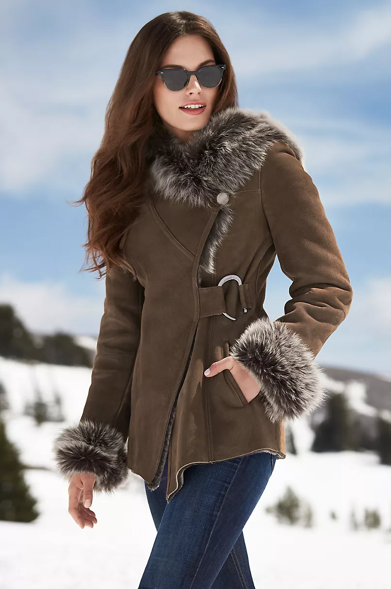 click to expand in 2020 Sheepskin jacket, Shearling coat