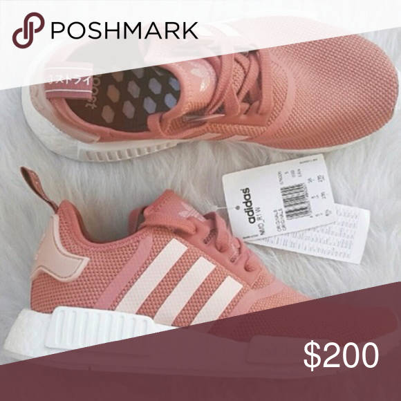 21873c9a9e8d9 ISO Adidas Nmd r1 in Raw Pink Really want to find them under  250! I heard  they run small! Adidas Shoes Athletic Shoes