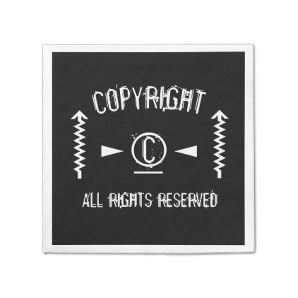 White Copyright Symbol All Rights Reserved With Arrows Paper