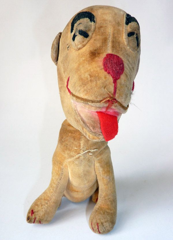 Bonzo Dog Plush Toy Bear Stuffed Animal Retro Dog Vintage Plush