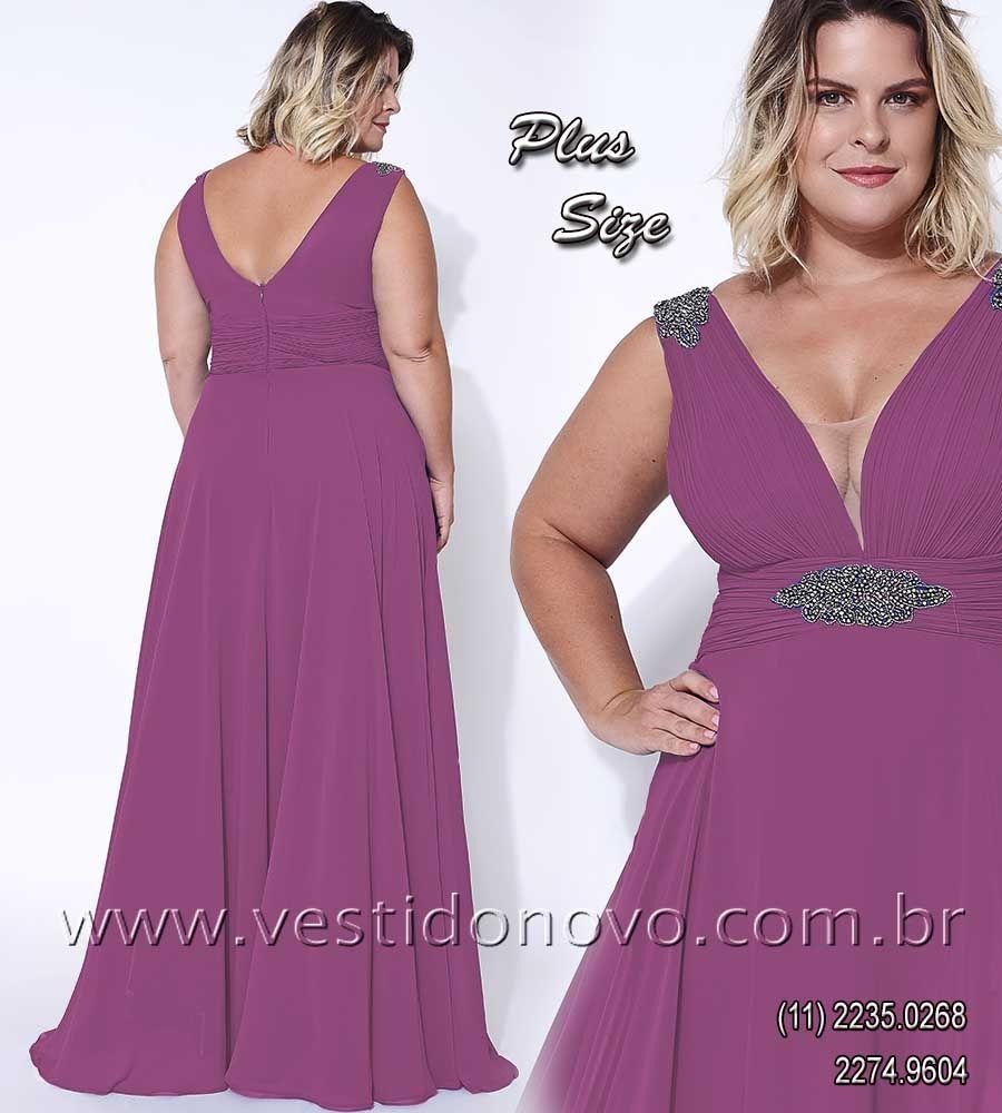 c18301f375b66 Vestido roxo plus size, mãe do noivo da LOJA VESTIDO NOVO, zona sul ...