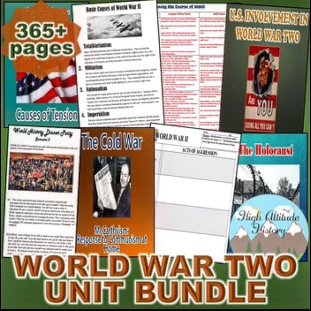 World War 2 Unit Bundle (World History / U.S. History