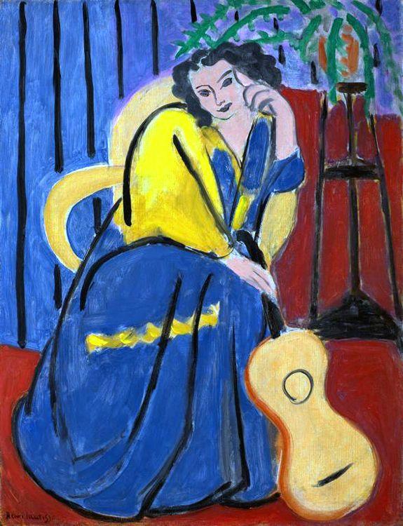 la femme en bleu matisse