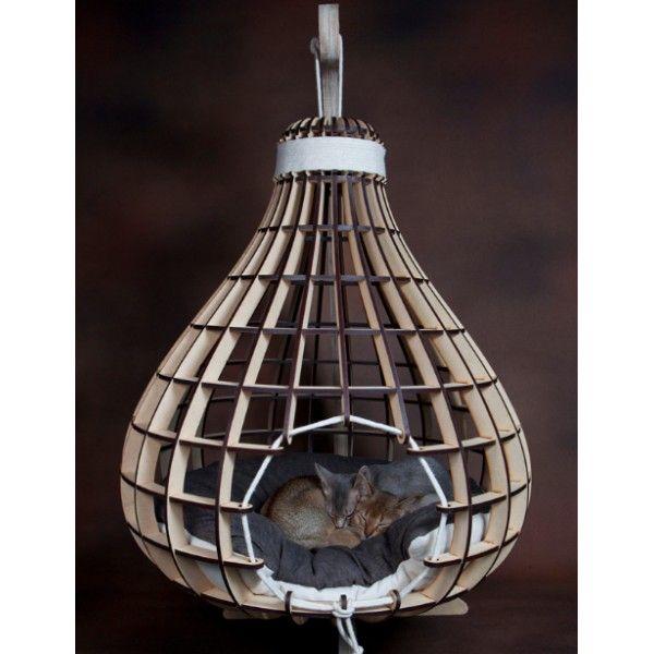 calabash i luxe pour chat i lit en suspension pour chat i kitticraft mobilier pour chat luxe. Black Bedroom Furniture Sets. Home Design Ideas