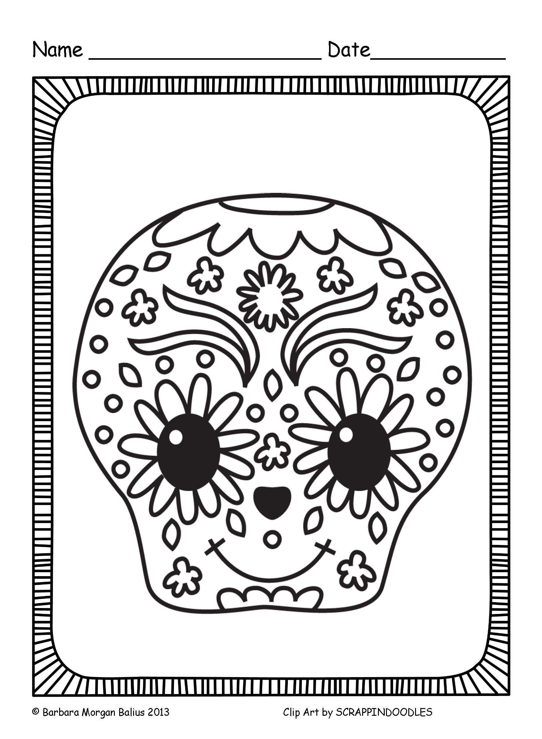 Dia De Los Muertos Coloring Sheets Actividades Día De