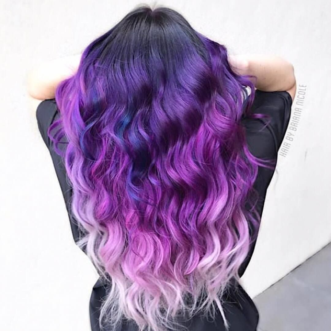 63 Purple Hair Color Ideas To Swoon Over Violet Purple Hair Dye Tips: Colorful Hair .