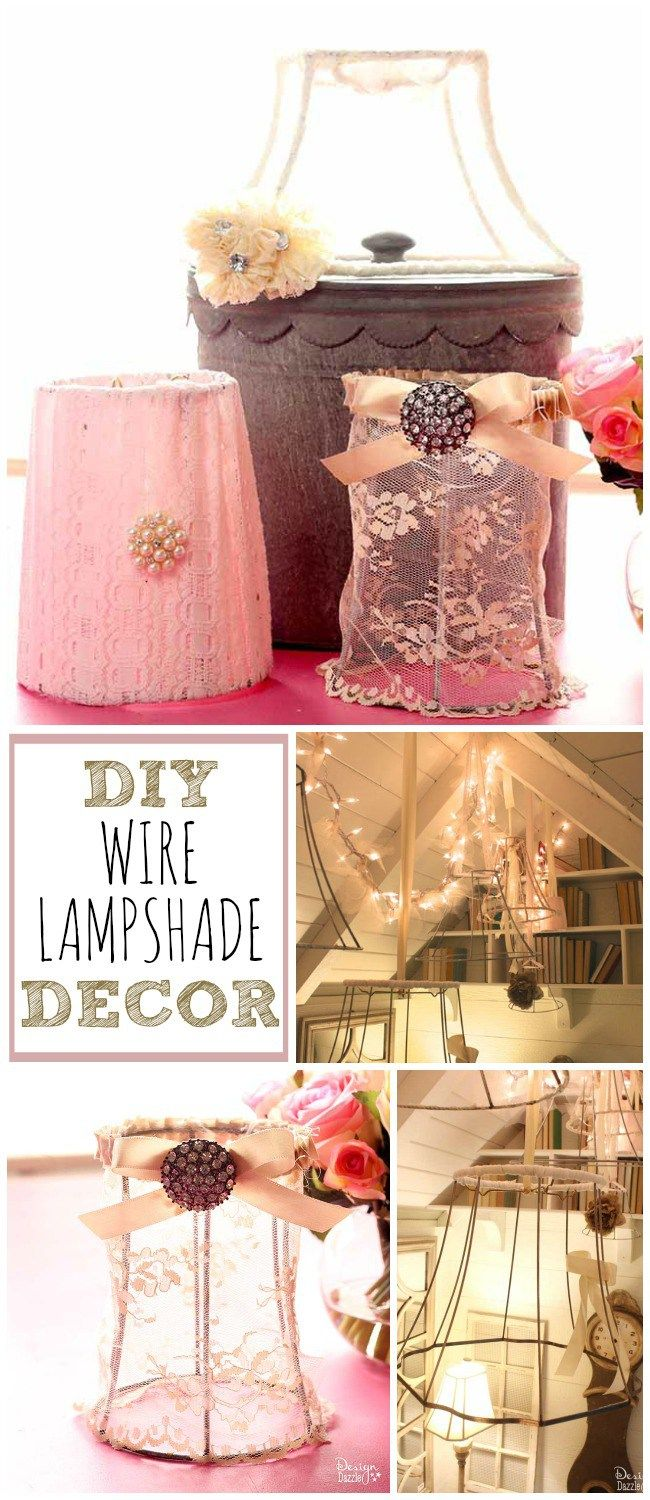 Diy wire lampshade decor lampshade decor wire lampshade and spaces these diy wire lampshade decor ideas will have your space looking pretty in no time greentooth Image collections