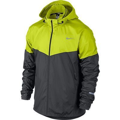 Brand new mens nike vapor wind   spray hooded jacket (grey volt) rrp ... b07af0399